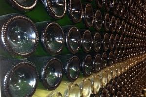 Cider bottles in the cellar